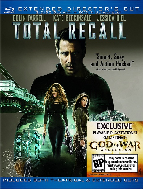 God of War: Ascension demó a Total Recall Blu-ray lemez mellé