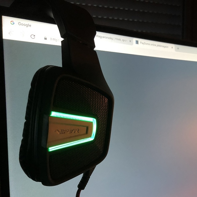 Patriot Viper Gaming V370 headset teszt