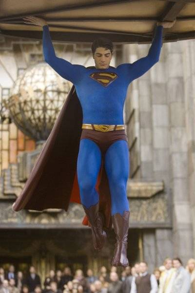 Robbie Williams a Superman vetítésen
